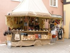 Verkaufsstand auf Mittelalter-Markt
