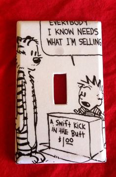 Calvin and Hobbes light switch cover by Nerdgasmo on Etsy, $6.99