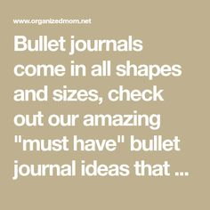 """Bullet journals come in all shapes and sizes, check out our amazing """"must have"""" bullet journal ideas that will help you make your bullet journal completely customized for you!"""