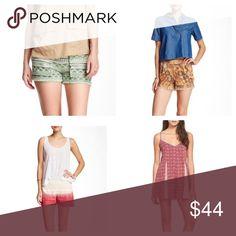 🌹Shorts Bundle🌹 Paper Crane Green/White Short, Jolt Shorts, Jolt Faux Suede Short, Zoe and Rise Print Romper Shorts
