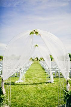 Blue and peach themed shabby chic wedding     The Frosted Petticoat