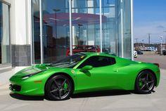 Ferrari 458 Spider Verde