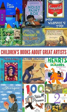 12 fabulous picture books that each explore the life and artwork of a master artist, each with a unique artistic style and view of the world. Children can learn so much about expressing their own thoughts and ideas from these masters. Art Books For Kids, Childrens Books, Art For Kids, Toddler Books, Teaching Art, Teaching Reading, Reading Lists, History Books, Art History