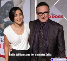 Robin Williams and daughter Zelda.the fact that he named his daughter Zelda makes me love him even more! Robin Williams, Good Will Hunting, All In The Family, Daddys Little Girls, Fathers Love, Family Affair, Father Daughter, Celebs, Celebrities
