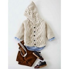 Cabled Knit Cardigan | Knit | Free Pattern | Yarnspirations | Knit for Baby