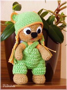 Rinna: Baculatí medvídci Amigurumi Toys, Crochet Hats, Knitting Hats