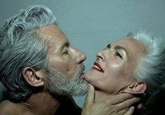 Beautiful mature people : Aiden Shaw & Carolyn Cowan by Mustafa Sabbagh. Aiden Shaw, Love Jones, Adventure Film, Beautiful Disaster, Aged To Perfection, Mans World, Aging Gracefully, Silver Hair, Photos