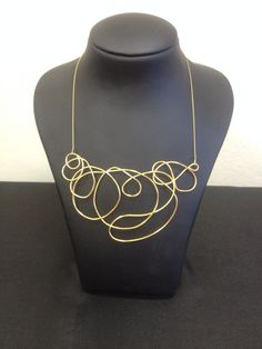 Goldplated necklace one of a kind