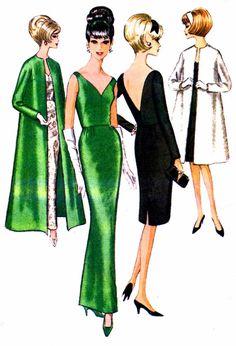 1960s McCalls 7562 Misses Low V Bare Open Back by patternshop, $39.99