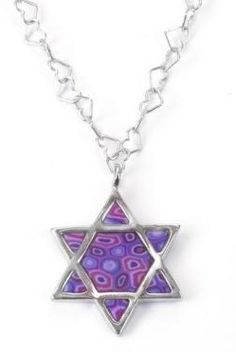 925 Sterling Silver Star of David Necklace Jewish Shield Pendant Handmade Polymer Clay, Chain -- Wonderful of your presence to drop by to view the image. (This is our affiliate link) Charm Jewelry, Pendant Jewelry, Jewelry Gifts, Jewellery, Silver Jewelry, Silver Rings, Star Of David Pendant, Star Pendant, Purple Necklace