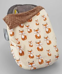 Look at this Lolly Gags x Beige Fox & Brown Minky Car Seat Blanket on today! Car Seat Strap Covers, Cozy Cover, Car Seat Blanket, Baby Gadgets, Minky Fabric, Baby Gear, Future Baby, Snug, Baby Car Seats