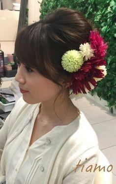 カワイイ花嫁さまのドレスと色打掛に合わせるスタイル♡リハ篇 |大人可愛いブライダルヘアメイク『tiamo』の結婚カタログ
