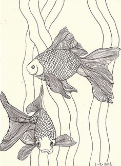 goldfish linework | Flickr - Photo Sharing!