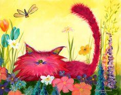 Cute painting idea. So funny. Cranky Cats -- Indigo Art