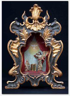 Anunciación del Arcángel a la Virgen María. Oratorio barroco no Brasil