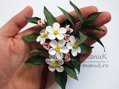 Quilled Apple Blossom Branch by Manuk