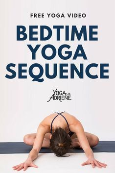 Bedtime Yoga,a relaxing routine for the mind and body! This yoga sequence is designed to prepare you for a good night's sleep creating space in the body as we cue the mind that its time to calm down and get ready for rest. Yoga With Adriene's relaxing eve Good Night Yoga, Night Time Yoga, Sleep Yoga, Bedtime Yoga, Bed Yoga, Yoga Quotidien, Cardio, Free Yoga Videos, Yoga Routine For Beginners