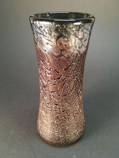 ART GLASS LOETZ HAND BLOWN THICK HEAVY VASE DARK BROWN/PURPLE  | Pottery & Glass, Pottery & China, Art Pottery | eBay!