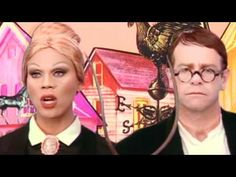 Elton John And RuPaul - Don't Go Breaking My Heart- Dressed as American Gothic. MY LIFE HAS COME FULL CIRCLE