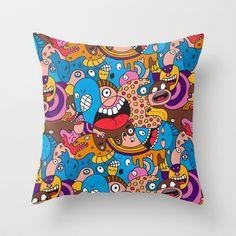 Daily Drawing #1300 Throw Pillow by Chris Piascik - $20.00
