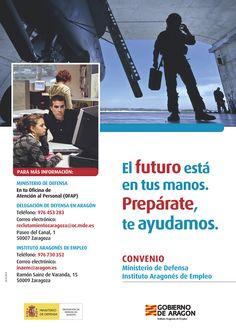 Cartel diseñado e impreso por Tipolínea para campaña del INAEM y Ministerio de Defensa