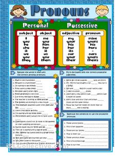 Pronouns - revision worksheet - iSLCollective.com - Free ESL worksheets