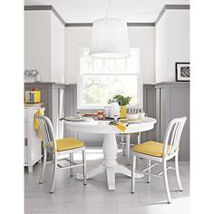 """Avalon 45"""" White Extension Dining Table in Dining Tables 
