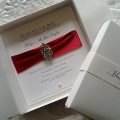 Red Wedding Invitation Card Invite. Boxed Luxury by RedNell, £4.95