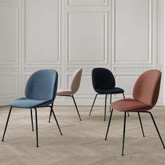 Spisestol med mye komfort, Beetle chair fra Gubi