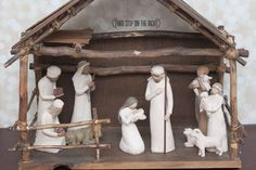 The Willow Tree Nativity Set Depicts a Powerful Moment Between Mother and Son- Third Stop on the Right Christmas Jesus, Christmas Nativity Scene, All Things Christmas, Nativity Scenes, Willow Tree Nativity Set, Willow Tree Figurines, Tree Wallpaper Nursery, Primitive Christmas Crafts, Nativity Stable