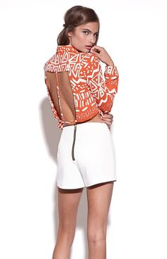 Tribal Cutout Shirt #spring #summer #outfit