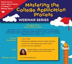 Webinars on Going to College