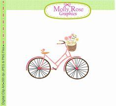 SALE bicycle clip art bycicles digital clip art M.71