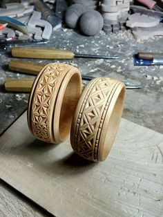 carved rings