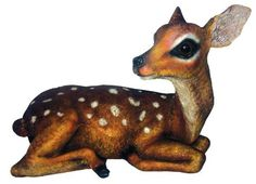 Bring the timeless grace of the Michael Carr Fauna the Fawn Resin Statue to your home or garden. Part of the Garden Critters collection from Michael. Outdoor Statues, Garden Statues, Garden Sculptures, Animal Statues, Tear, Garden Accessories, Forest Animals, Cherub, Joss And Main