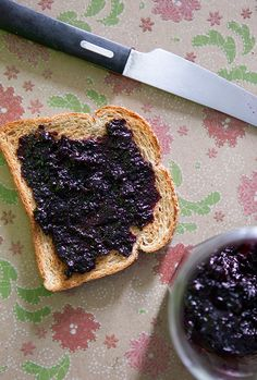 1 Pint Blueberry Jam by Brooklyn Farm Girl - lovelovelovelove this recipe!! Jam that doesn't take up my entire kitchen while making it!  Makes me happy :)