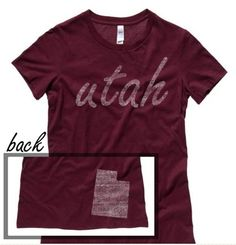 Utah #ilovemystate http://washedtee.com/shop/womens/t-shirts-tanks/washed-favorite-t-shirt/