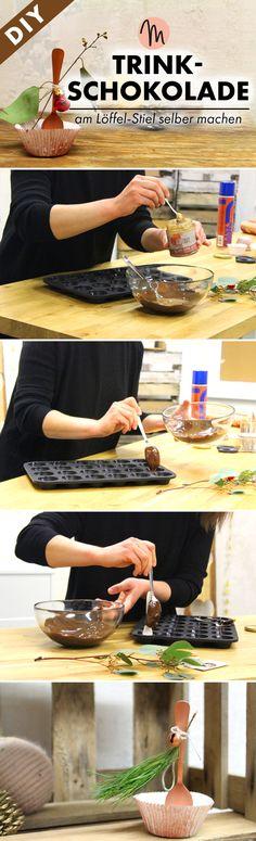 Trinkschokolade am Stiel zum Selbermachen - DIY-Anleitung via Blog.makerist.de