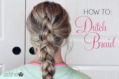 Hair and Beauty. How To: Dutch Braid