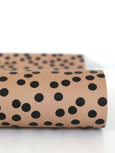 Black Dots on Nude Wrapping Paper by Ava & Yves