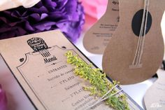 Detalle minuta flamenca #invitacionedebodas #bodas #minutas #menu #leblue
