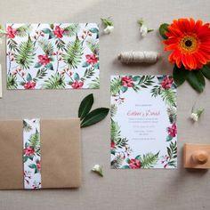 Invitación de boda TROPIC - The summer loveThe summer love