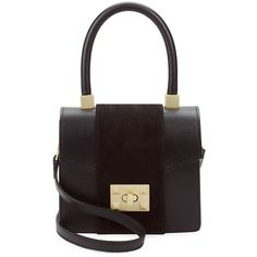 Valentino by Mario Valentino Women's Leather Box Mini Bag (5.426.660 IDR) ❤ liked on Polyvore featuring bags, handbags, no color, leather handbags, leather purses, embellished purse, embellished handbags and mario valentino handbags