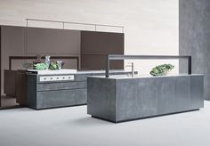 25 Contemporary Artematica Kitchens from Valcucine Innovation, Timeless Kitchen, Smart Kitchen, Kitchen Collection, Minimalist Kitchen, Modern Kitchen Design, Decorating On A Budget, Kitchen Furniture, Contemporary Style