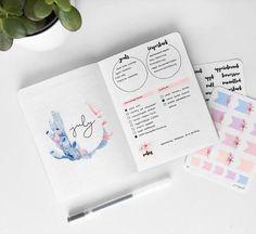 Watch the anxiety melt away. Minimalist watercolor bullet journal tutorial. bullet journal tutorial || mental heath ||