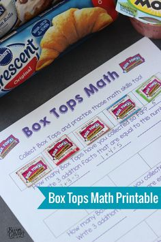 Box Tops Math Printable - A fun and educational way to collect Box Tops and help your school! #sponsored #BTFE