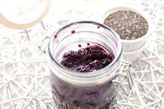 Blueberry Chia Seed Jam Lid Open nutiva.com #Chia #chiaSeed