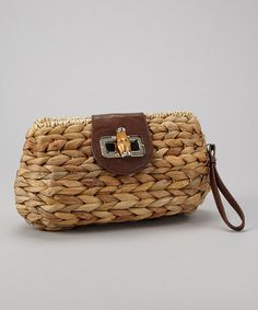 Take a look at this Brown Clutch by Straw Studios on #zulily today!