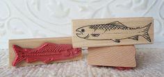Salmon rubber stamp.
