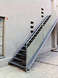 stair, cool railing